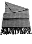 Black With White Herringbone Unisex Scarf