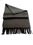 Gray With Black Herringbone Unisex Scarf