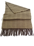 Tan With Brown Herringbone Unisex Scarf