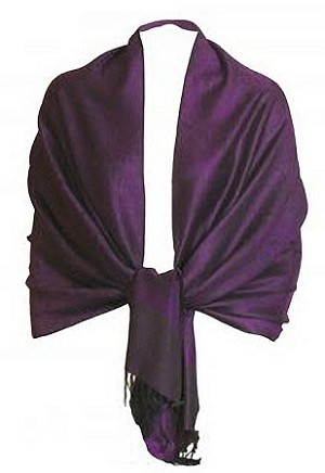 Prettiest purple pashmina we've seen!